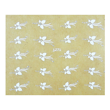 1PCS Mini Flowers Pattern Wedding Nail Art Sticker
