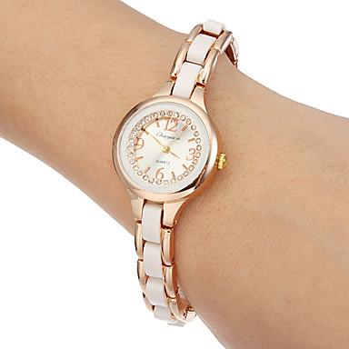 Dámské Módní hodinky Náramkové hodinky Křemenný imitace Diamond Kapela Bílá Zlatá