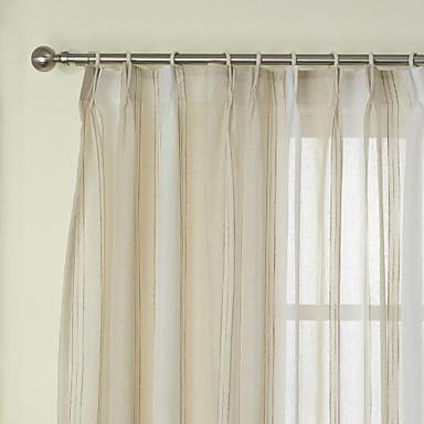 Schlaufen für Gardinenstange Ösen Schlaufen Zweifach gefaltet zwei Panele Window Treatment Neoklassisch, Jacquard Streifen Schlafzimmer