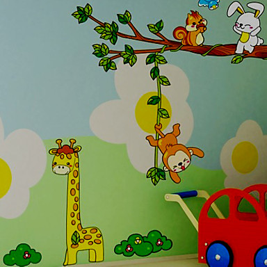 Animals Cartoon Wall Stickers Plane Wall Stickers Decorative Wall Stickers, Vinyl Home Decoration Wall Decal Wall