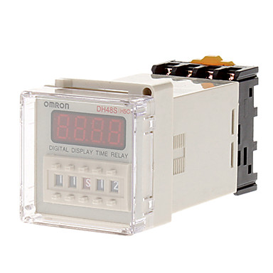 DH48S-1Z LCD Display Time Timer Delay Relay 8-Pin SPST 0 01S