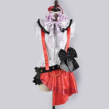 Inspireret af Kærlighed Levende Nozomi Tōjō video Spil Cosplay Kostumer Cosplay Kostumer Skoleuniformer Patchwork Uden ærmer Top Nederdel
