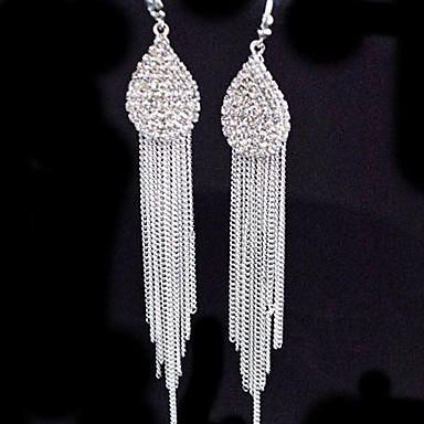 Drop Earrings Simulated Diamond Alloy Heart Gold Silver Jewelry 2pcs