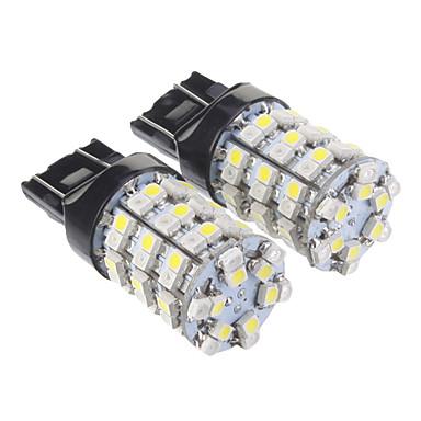 T20 7440 60x3528SMD Warm White Light LED Bulb for Car (12V,2 pcs)