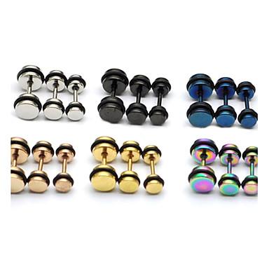 Sitne naušnice Okrugle naušnice Tikovina Titanium Steel Circle Shape 14 15 16 17 18 Jewelry Za Party Dnevno