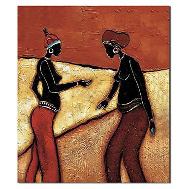 Pictate manual pictură ulei Oameni Sisters cu cadru întins