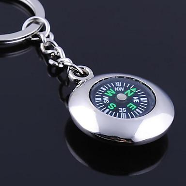 Individuelle Gravur Geschenk Runde Kompass geformt Schlüsselbund
