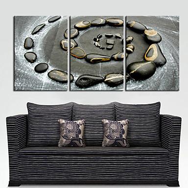Lærredstryk på blindramme Kunst Landskab Cobblestones Set of 3