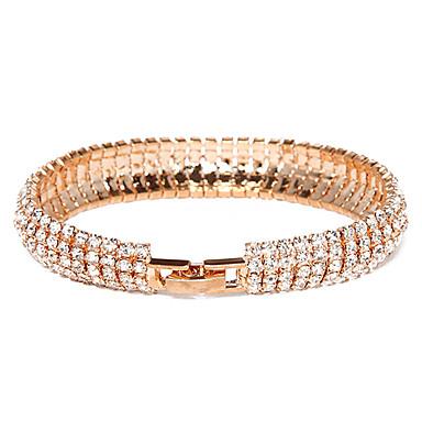 Damen Krystall vergoldet Diamantimitate Anderen Armreife Tennis Armbänder - Einzigartiges Design Modisch Armbänder Für Party Alltag