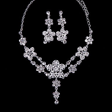 Dames Bergkristal Legering Bruiloft Speciale gelegenheden  Vuosipäivä Verjaardag Verloving Lahja Oorbellen Kettingen Kostuum juwelen