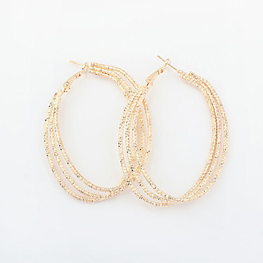 Damen Tropfen-Ohrringe Kreolen - Retro, Europäisch, Viktorianisch Gold / Silber Für