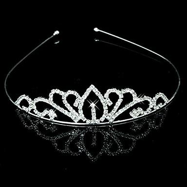 Nunta mireasa flori Fete Copii Crystal Pearl par Band Headband Tiara