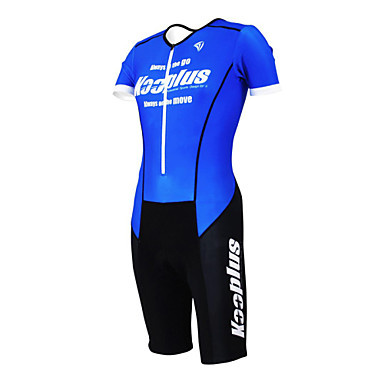 Kooplus Men's Women's Short Sleeves Tri Suit Bike Clothing Suits, Quick Dry, Breathable, Spring Summer, Polyester