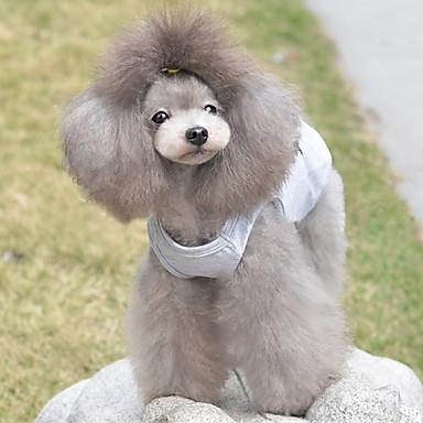 Kedi Köpek Tişört Köpek Giyimi Kalp Gri Pamuk Kostüm Evcil hayvanlar için Erkek Kadın's Sevimli Günlük/Sade