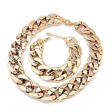 Pentru femei Set bijuterii - Argilă European, Modă Include Negru / Argintiu / Auriu Pentru Petrecere / Ocazie specială / Aniversare / Coliere / Brățară