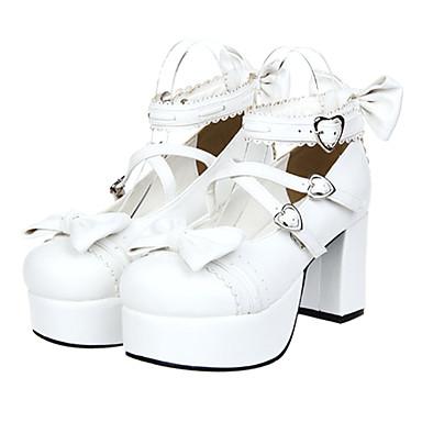 Schuhe Niedlich Prinzessin Plattform Schuhe Schleife 8 CM Für PU - Leder/Polyurethan Leder
