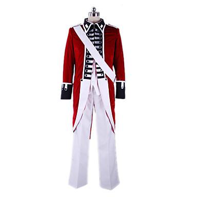 Inspirat de Hetalia England Arthur Kirkland Anime Costume Cosplay Costume Cosplay Peteci Geacă Cămașă Pantaloni Mâneci Panglică Pentru