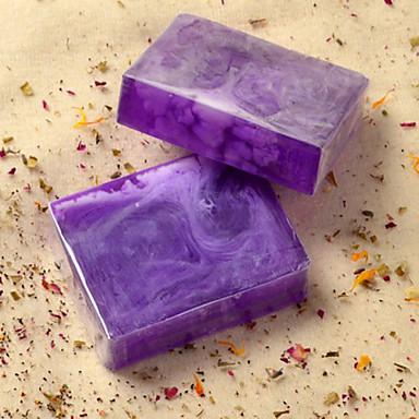 Natural Handmade Lavender Essential Oil Soap Whitening Balance Oil Secretion 100g