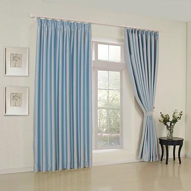 Schlaufen für Gardinenstange Ösen Schlaufen Zweifach gefaltet zwei Panele Window Treatment Modern Solide Wohnzimmer Polyester Stoff