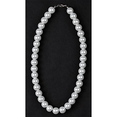 Women's Pearl Imitation Pearl Pearl Necklace Strands Necklace  -  Silver / Black Ivory Necklace For Wedding Daily Casual