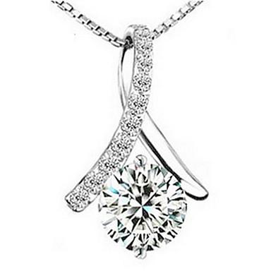 elegantní střapce dámské slivery ze slitiny náhrdelník (1 ks) elegantní styl