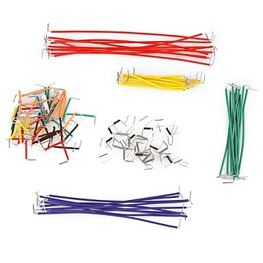 140 kusů Jumper dráty s různými barvami
