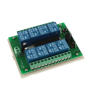 DDR3   DC 12V 8-Channel Multifunctional Wireless Switch for RC Door / Window / Industrial Control