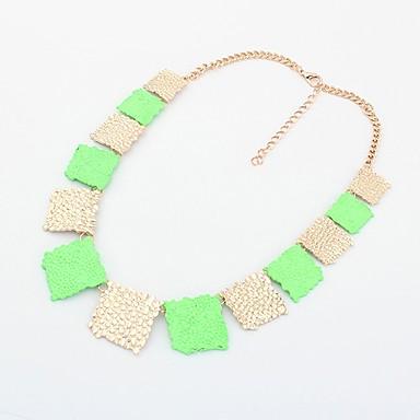 Shadela Square Green Módní náhrdelník CX141