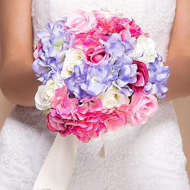 Svatební kytice Kytice Svatební Hedvábí 28 cm (cca 11,02