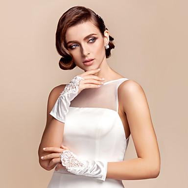 satin de mariée doigts des gants longueur du poignet avec des paillettes (plus de couleurs)