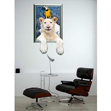 3D Polar Bear perete autocolante de perete Decals