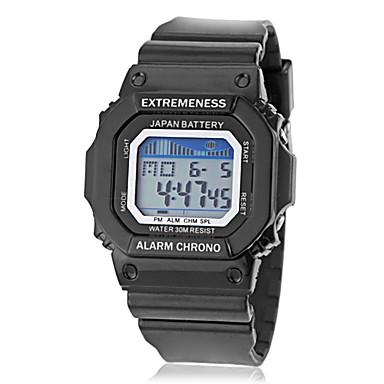 Bărbați Ceas Sport Piloane de Menținut Carnea LCD Calendar Cronograf alarmă Bandă Negru Albastru Verde