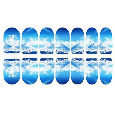 12 Pcs Tips Unghia Intera Adesivi 3d Unghie Manicure Manicure Pedicure Quotidiano Cartone Animato - Di Tendenza - Adesivi Per Unghie 3d - Abs #01245247 Prezzo Di Liquidazione
