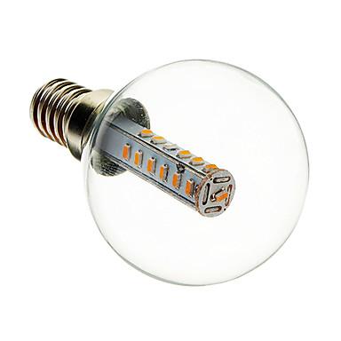 180-210 lm E14 Bulb LED Glob G45 25 led-uri SMD 3014 Decorativ Alb Cald AC 220-240V