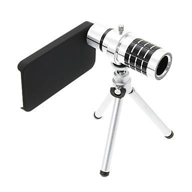 Zoom 12X teleobjektiv Hliník mobil objektiv s stativ pro iPhone 4S