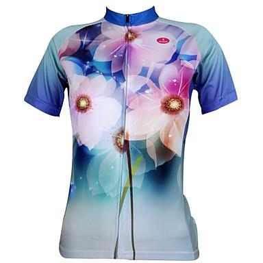 ILPALADINO Dámské Krátký rukáv Cyklodres Jezdit na kole Dres, Rychleschnoucí, Odolný vůči UV záření, Prodyšné