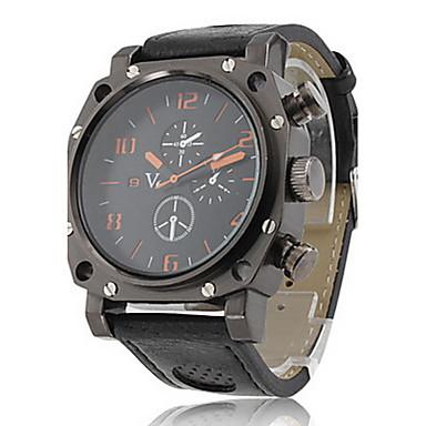 V6 Bărbați Ceas de Mână Quartz Quartz Japonez PU Bandă Negru