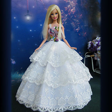 Prinsesse Kjoler Til Barbiedukke Blonde Kjole Til Pigens Dukke Legetøj