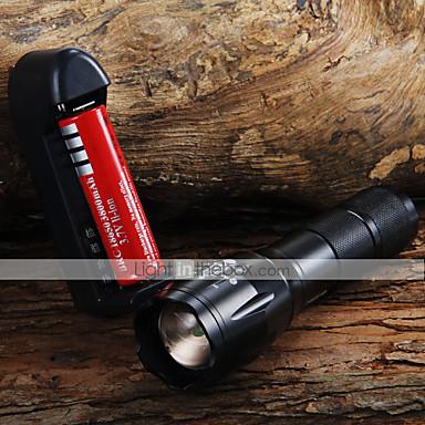 Lanterne LED LED 1600 lm 3 Mod LED Cu Baterie și Încărcător Zoomable Focalizare Ajustabilă Camping/Cățărare/Speologie Utilizare Zilnică