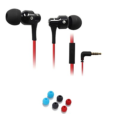 Moda Awei ES-500i 3.5mm Plug In-Ear aliaj de aluminiu Super Bass microfon căști-Negru