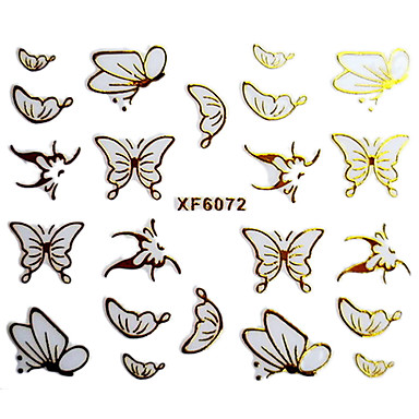 3D Butterfly Design Hot Stamping Nail Art Stickers XF Series