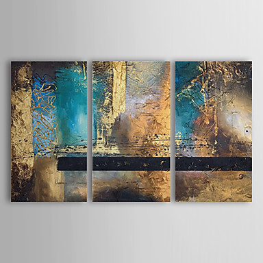 Oil Painting Hand Painted - Abstract Canvas Three Panels