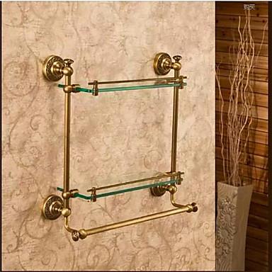 Badezimmer Regal Gute Qualität Antike Messing Glas 1 Stück - Hotelbad