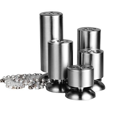 100mm inoxidabil cilindrică de masă Leg (Regulamentul Up 15mm)