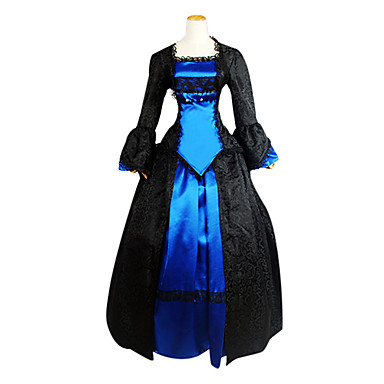 Medieval Victorian Costume Women's Dress Party Costume Masquerade Vintage Cosplay Lace Polyester Long Sleeves Lolita
