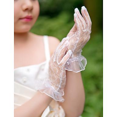 Wrist Length Fingertips Glove Net Flower Girl Gloves Spring / Summer / Fall / Winter
