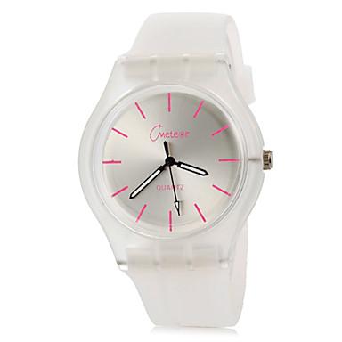 Dámské Módní hodinky Hodinky na běžné nošení Náramkové hodinky Křemenný Barevná Silikon Kapela Běžné nošení Černá Bílá Modrá Růžová