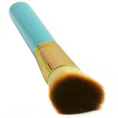 1 מברשת מייקאפ שיער סינטטי מגביל חיידקים / נייד עץ פנים אחרים