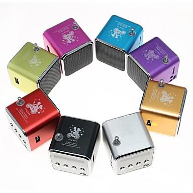 الخارج داخلي محمول لاسلكي 3.5mm AUX USB مكبر صوت للخارج أرجواني أحمر أخضر أزرق زهري