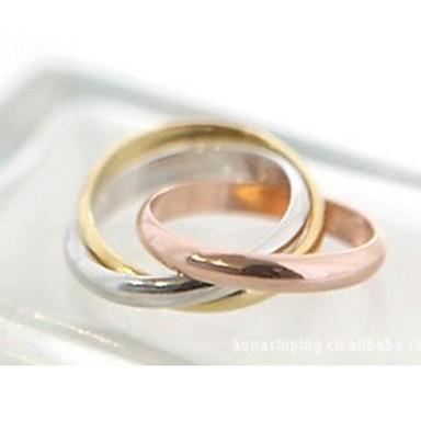 Pentru femei Band Ring - Aliaj Modă 7 Auriu / Argintiu Pentru Nuntă / Petrecere / Zilnic